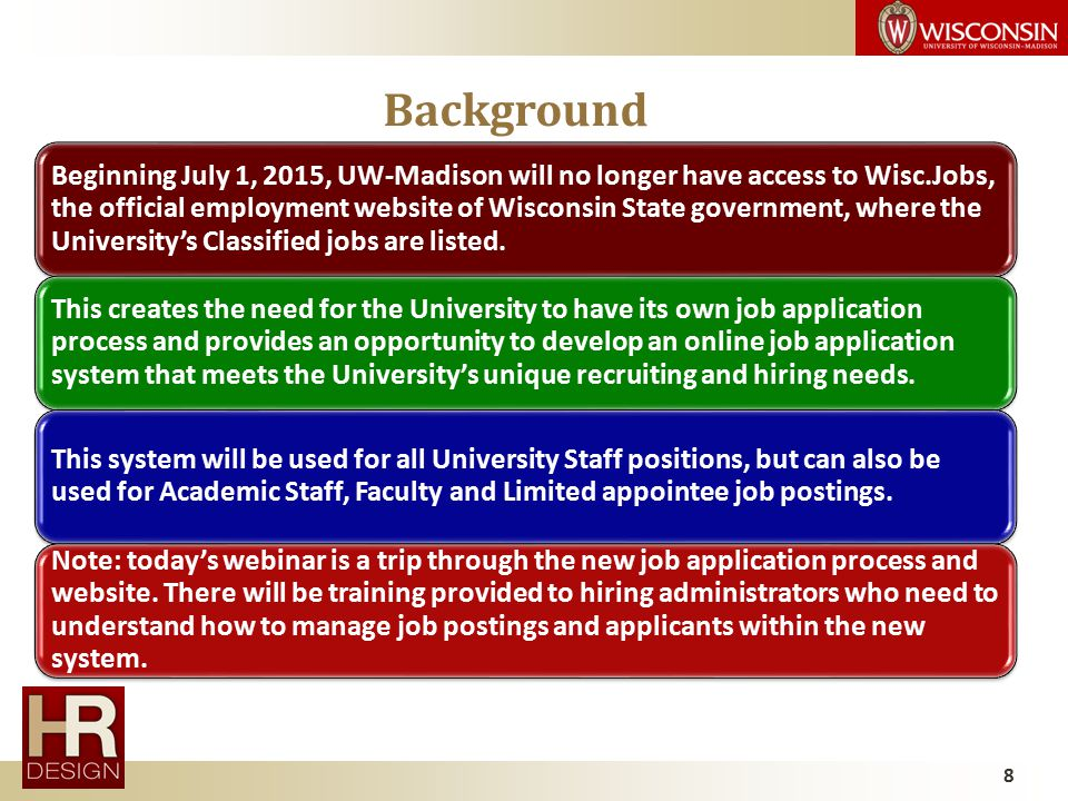 Applying for a Job at UW-Madison: The NEW Employment Website