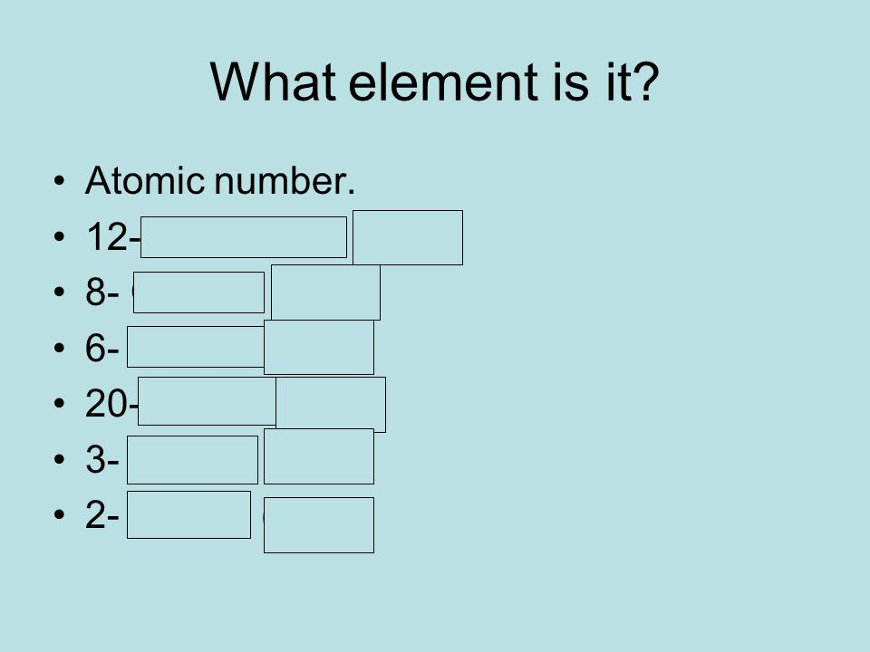 What element is it. Atomic number.