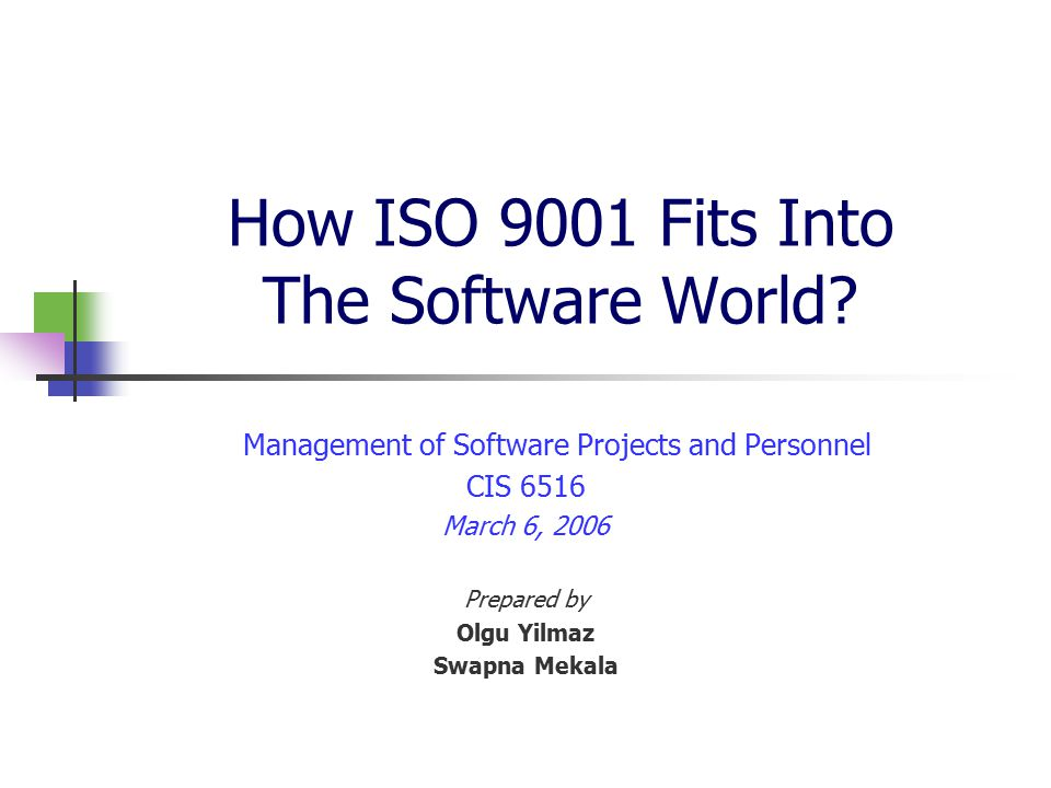 How ISO 9001 Fits Into The Software World.