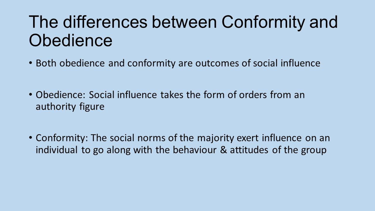 conformity research topics