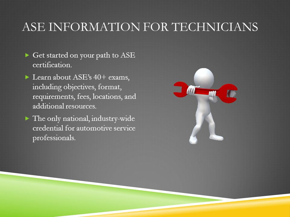 Ase Certification Training Designed By Herb Mccartney Ppt Download
