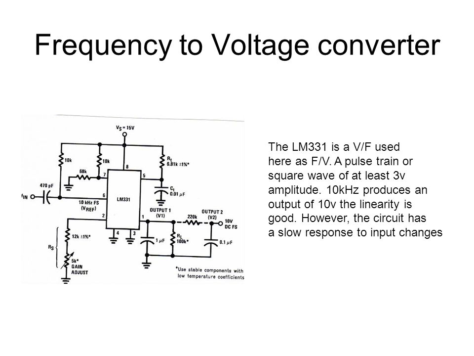 Terrific Frequency To Voltage Converter And Voltage To Frequency Converter Wiring Database Gramgelartorg