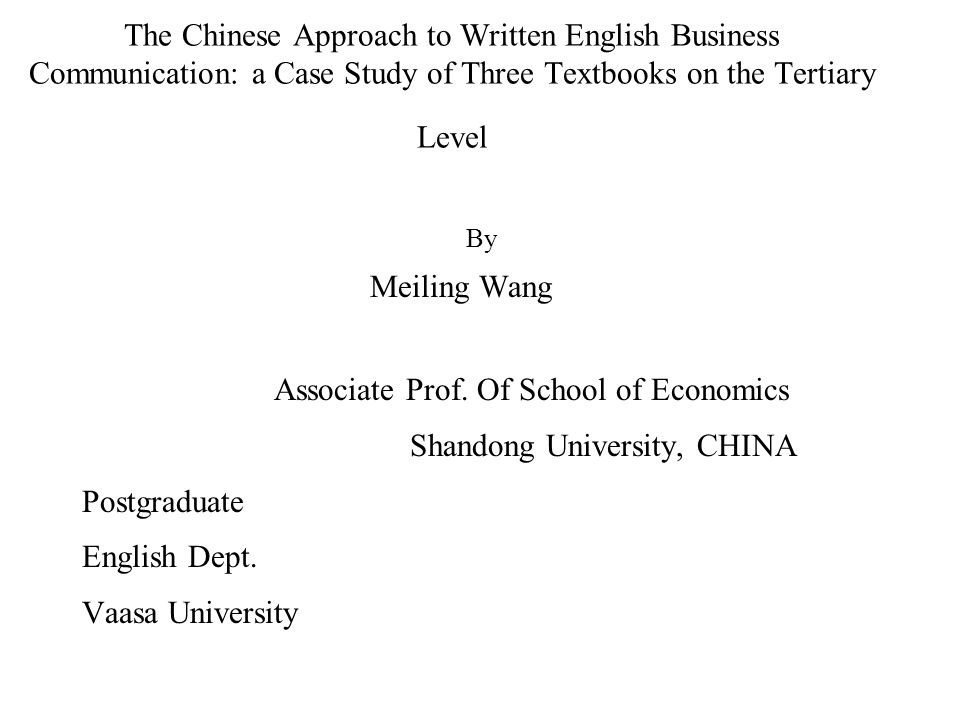 chinese business communication style