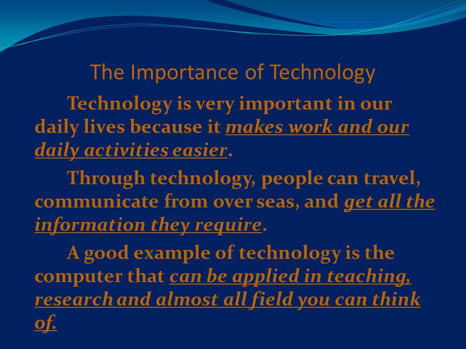 importance information technology daily life
