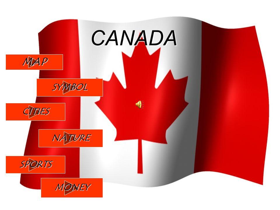 Canada Map Symbol Cities Nature Sports Money Symbol Symbol Of