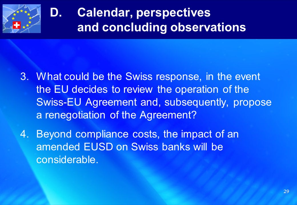 J Russotto Brussels The Forthcoming Revision Of The Eu Directive On
