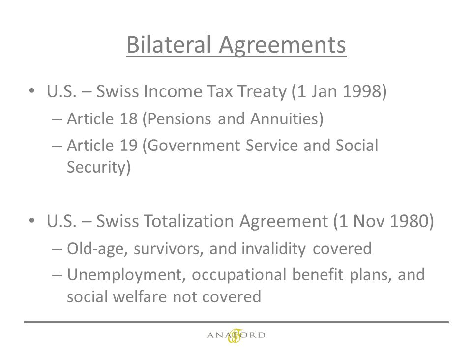 Us taxation of swiss retirement and pension funds milan k patel bilateral agreements us publicscrutiny Images
