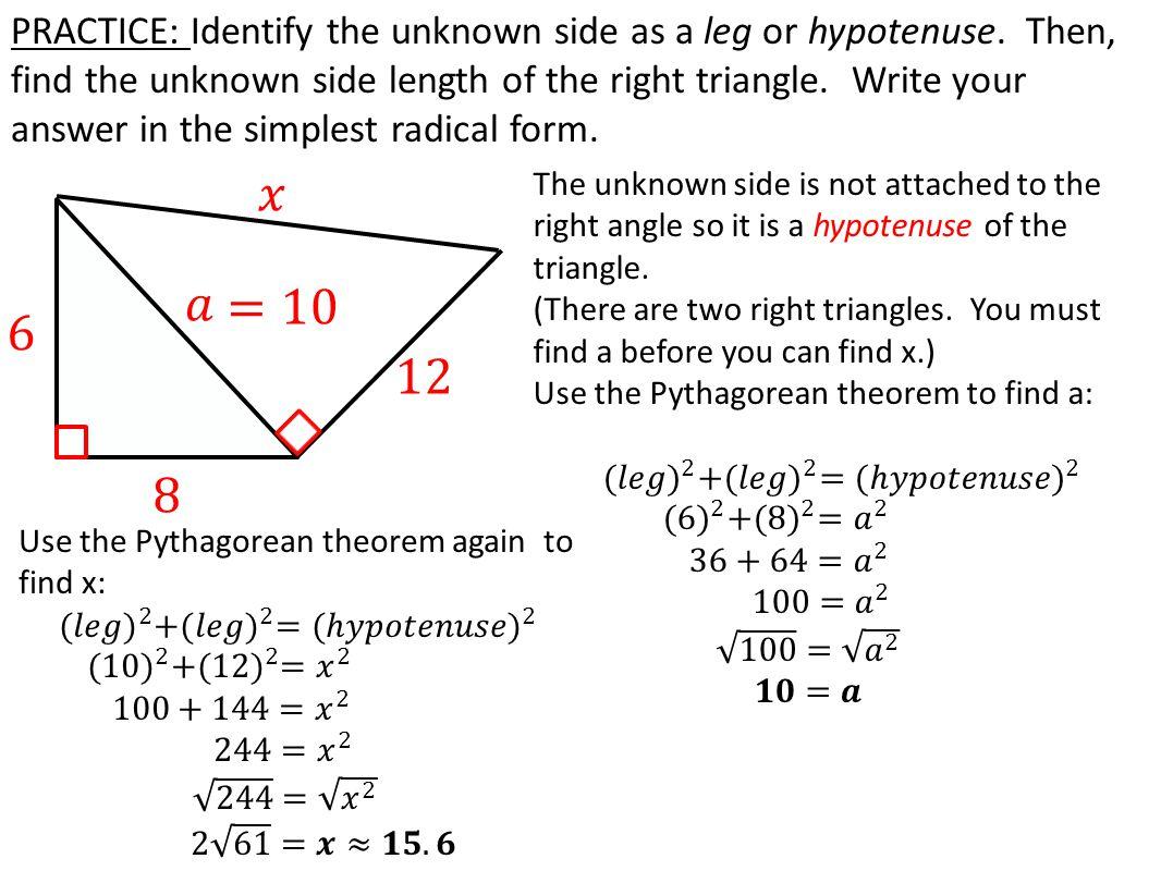 pythagoras theorem problem solving