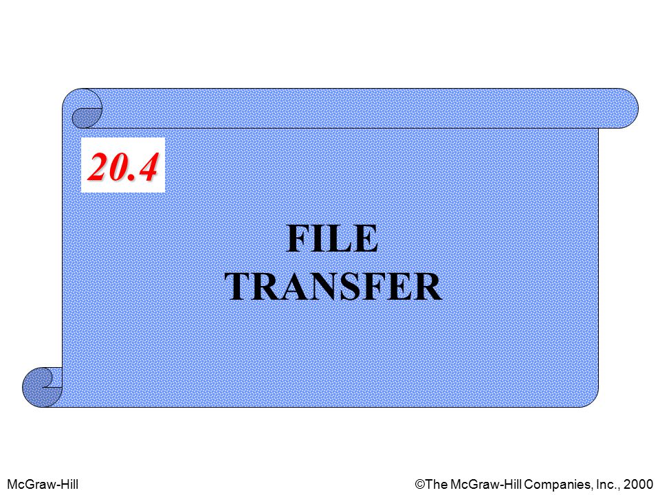 McGraw-Hill©The McGraw-Hill Companies, Inc., 2000 FILE TRANSFER 20.4