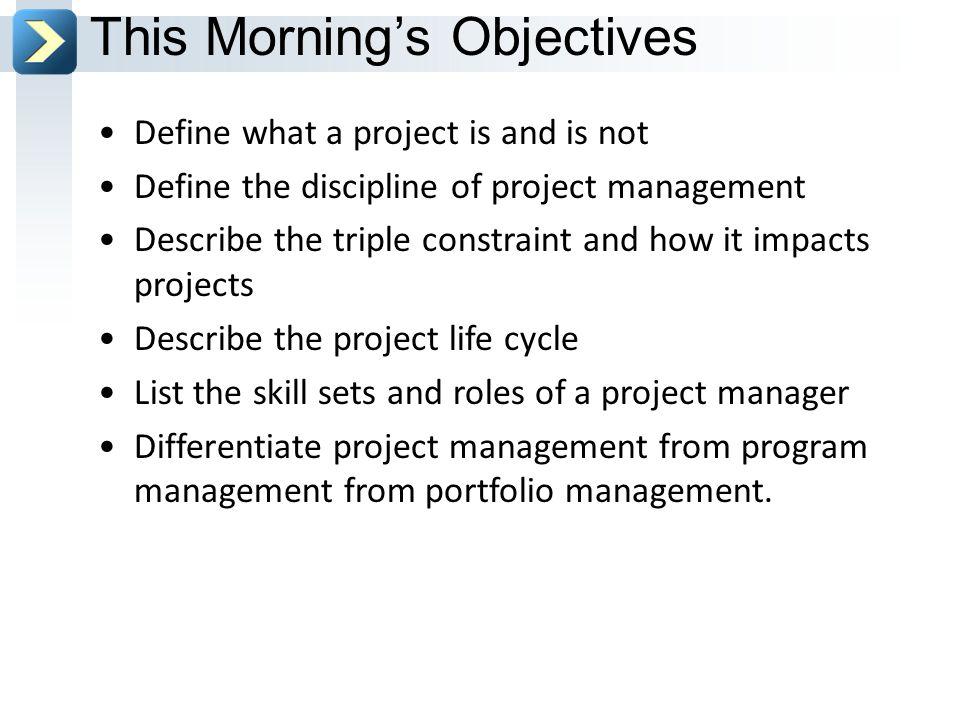 project management triple constraint definition