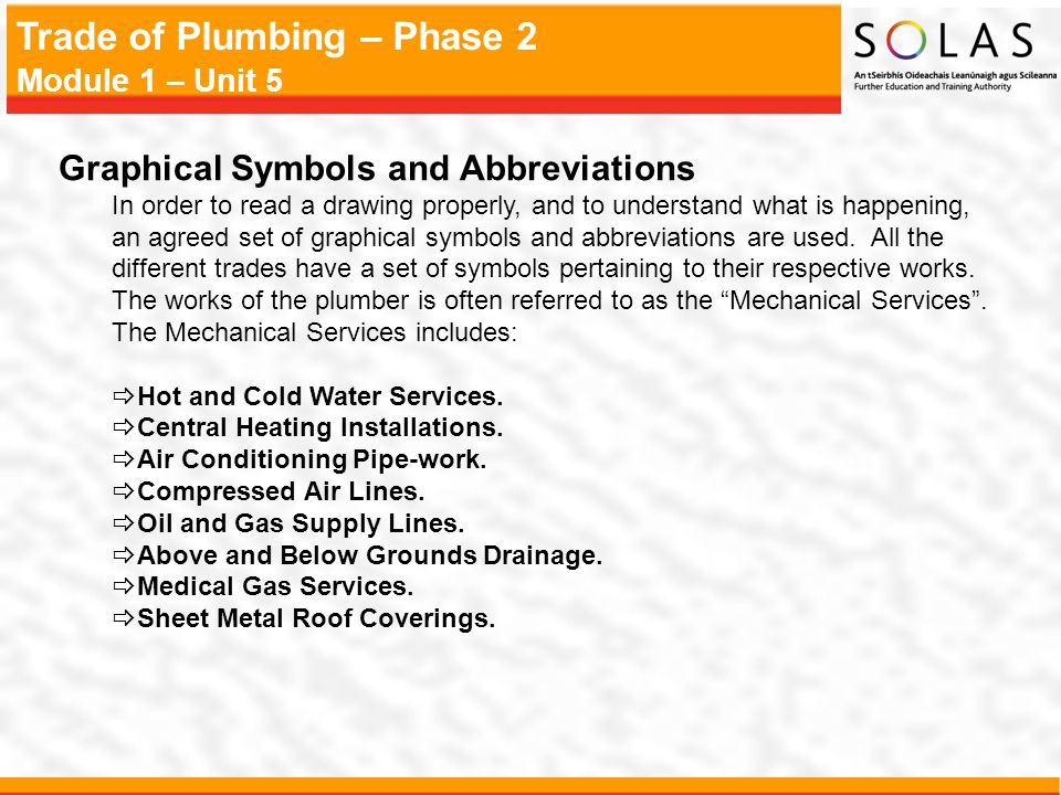 Trade Of Plumbing Phase 2 Module 1 Unit 5 Module 1 Thermal