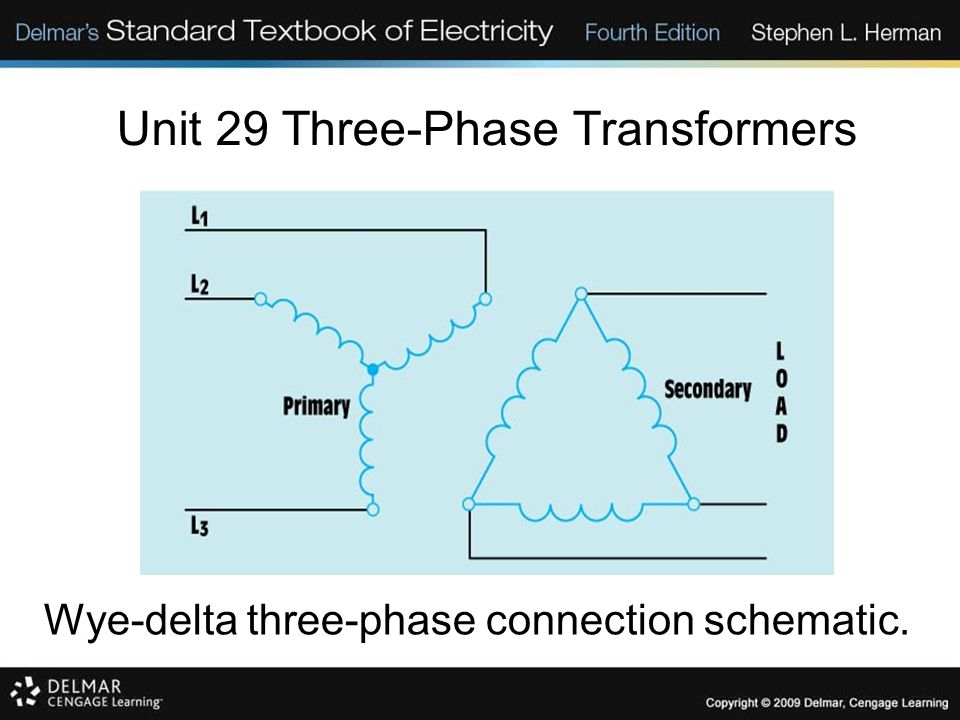 Unit 29 Three-Phase Transformers. Objectives: Discuss the ...  Phase Transformer Wiring Diagram Distribution Cards on