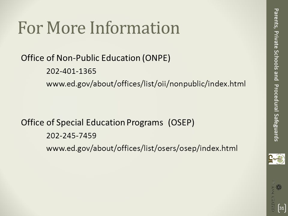 Images For Special Education Procedural Safeguards_31 >> Parents Private Schools And Procedural Safeguards Advocacy For