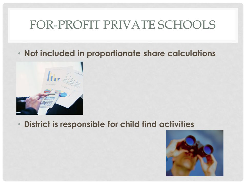 Not included in proportionate share calculations District is responsible for child find activities