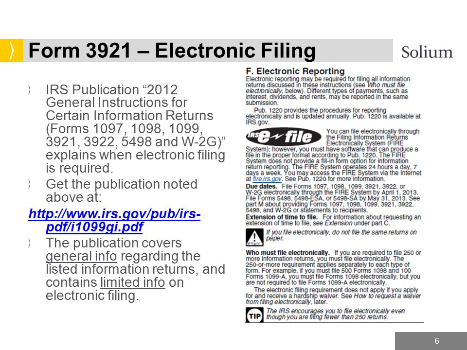 Capmx Form 3921 Copy A Electronic Filing Tax Year Ppt Download