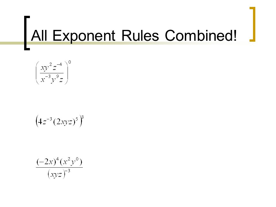 All Exponent Rules Combined!