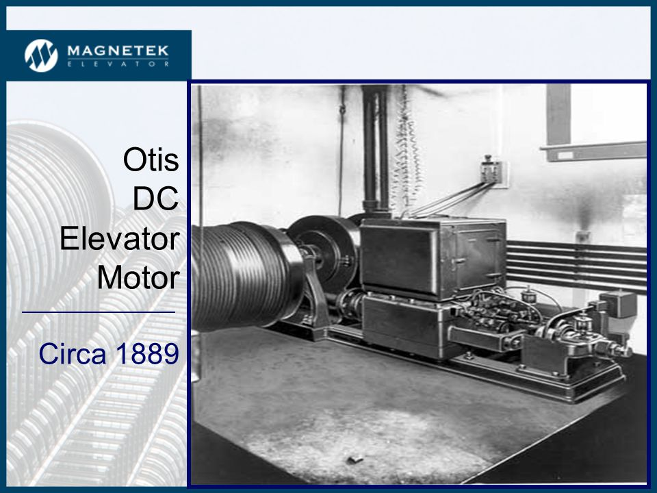 Elevator Drives Past, Present and Future As Presented at