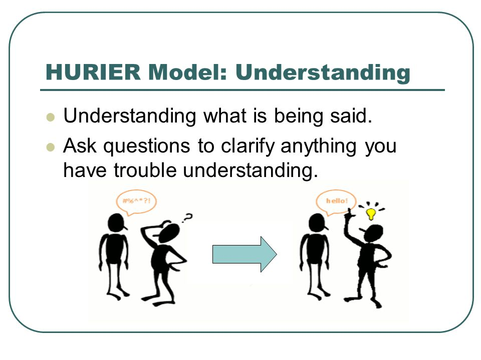 HURIER Model: Understanding Understanding what is being said.