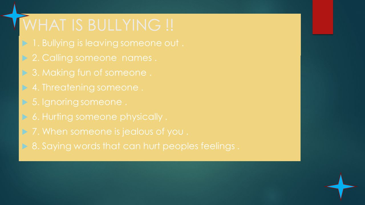 To stop anti bullying TOGETHER WE CAN STOP BULLYING BY ELLIE