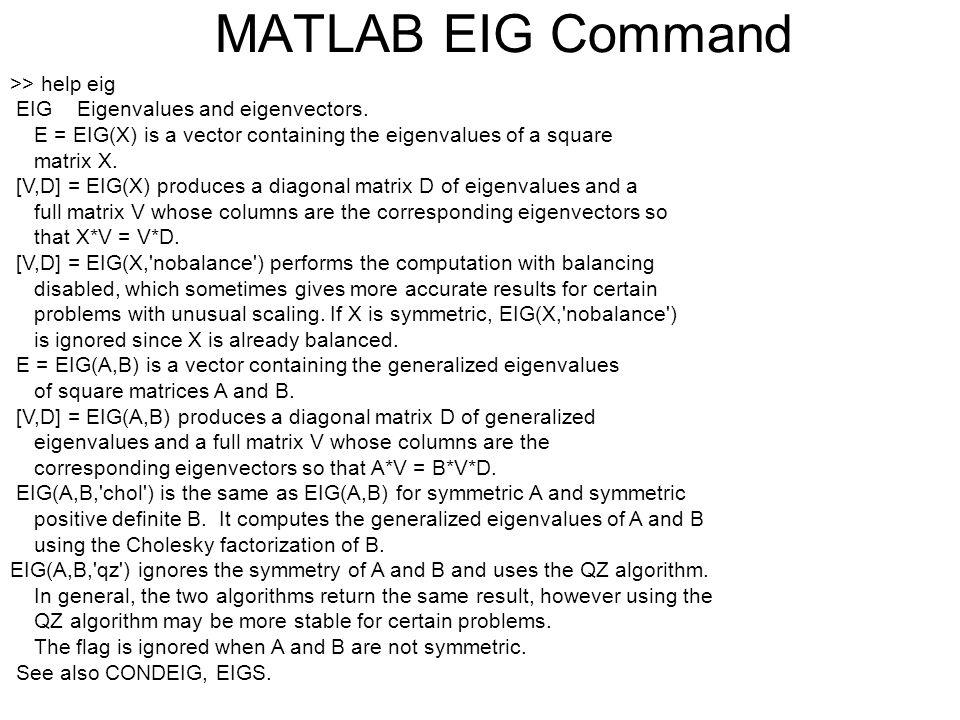 MA2213 Lecture 8 Eigenvectors  Application of Eigenvectors