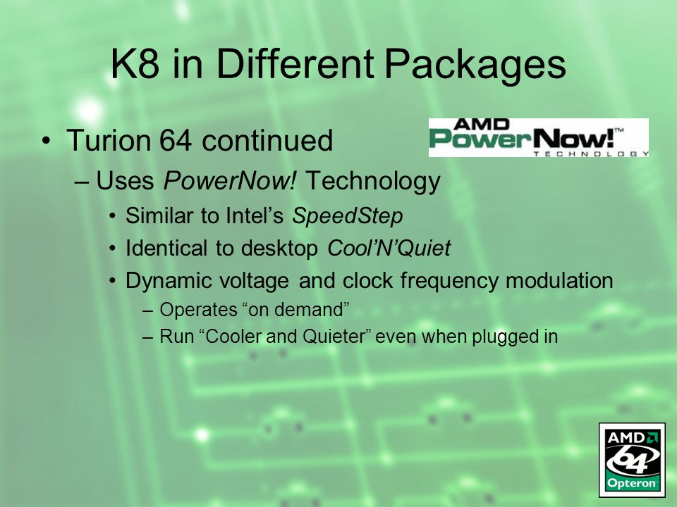 The Amd Opteron Henry Cook Kum Sackey Andrew Weatherton Ppt Download
