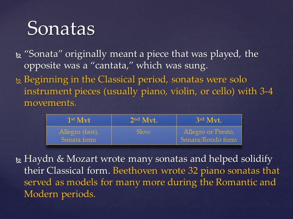 """Beethoven: """"Moonlight"""" Sonata   """"Sonata"""" originally meant"""