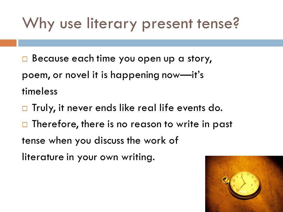 literary present tense nonfiction