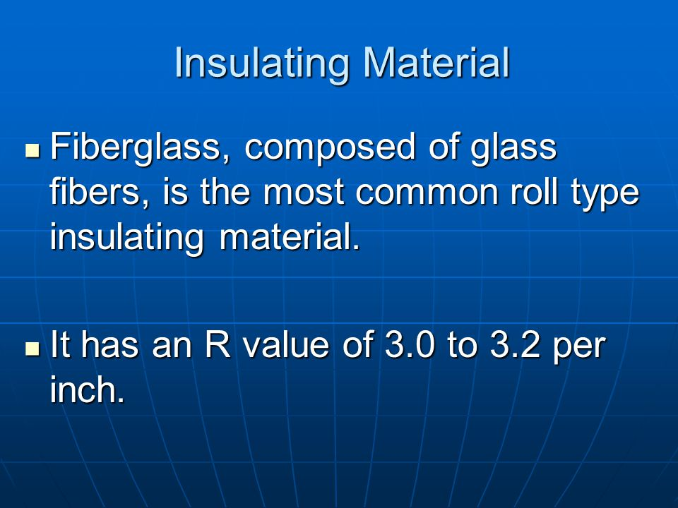 Insulating Material Blankets come as rolls or batts 4 foot long either 3½ or 6 inches thick.