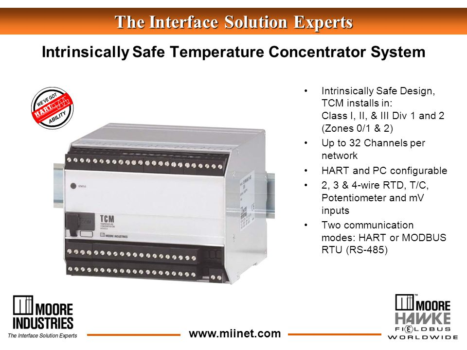 The Interface Solution Experts Intrinsically Safe Design