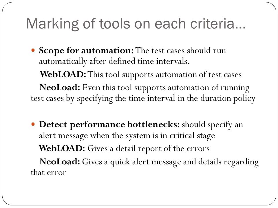 Scope For Automation: The Test Cases Should Run