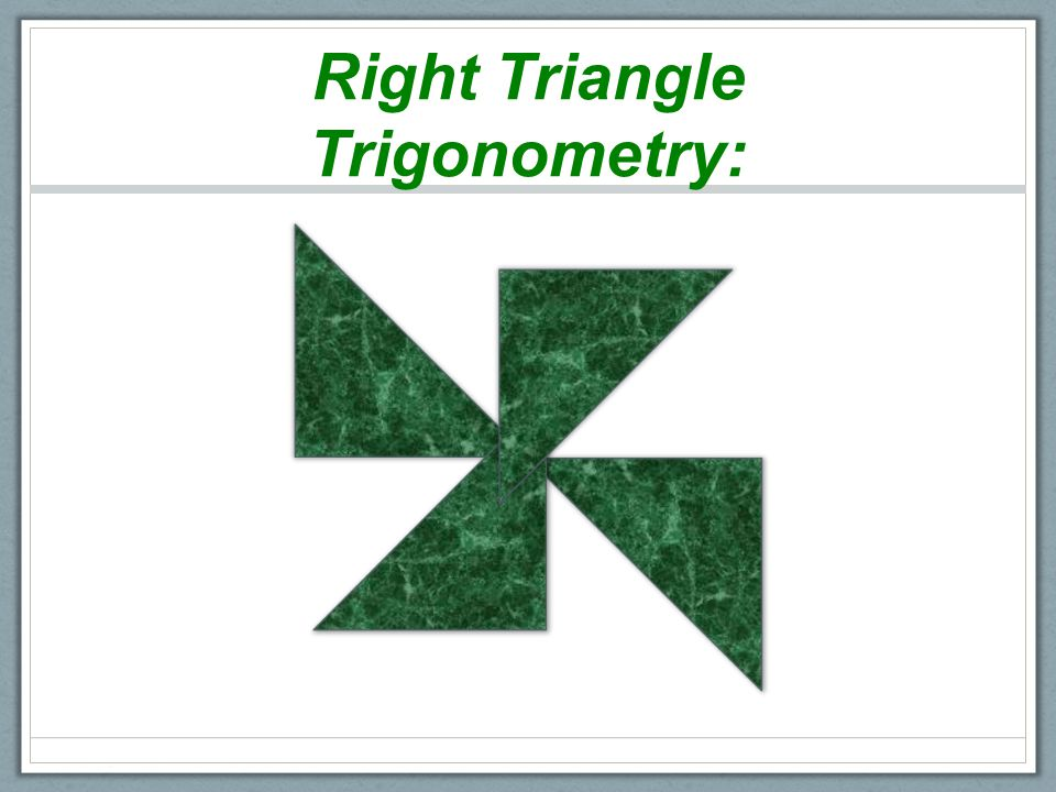 Right Triangle Trigonometry Word Splash Use Your Prior Knowledge