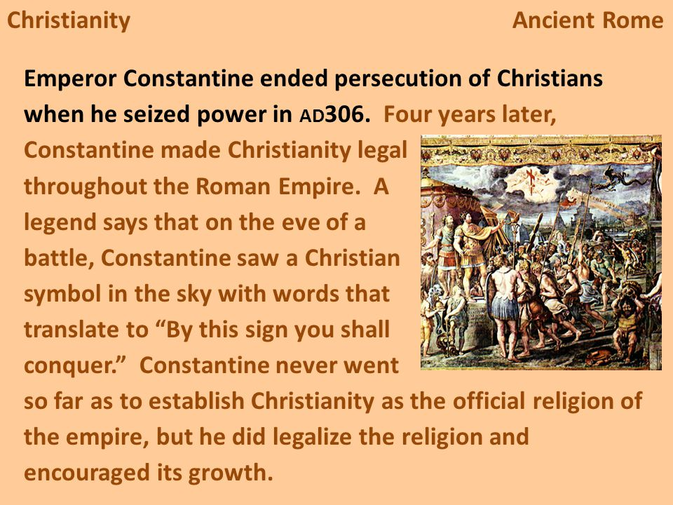 christianity in ancient rome essay Research paper example essay prompt: christianity in ancient rome - 979 words note: the samle research paper or essay prompt you see on this page is a free essay, available to anyone you can use any paper as a sample on how to write research paper, essay prompts or as a source of information.