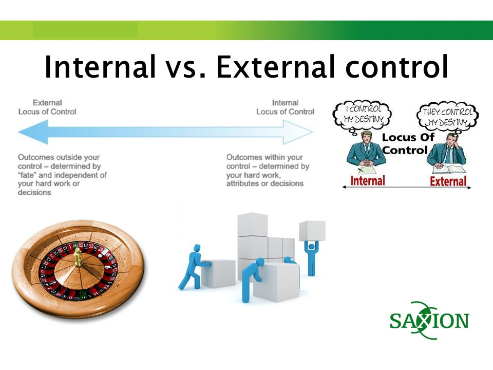 Step up to Saxion. Internal vs. External control