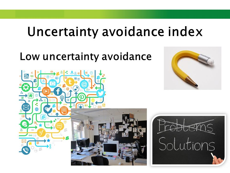 Step up to Saxion. Low uncertainty avoidance Uncertainty avoidance index