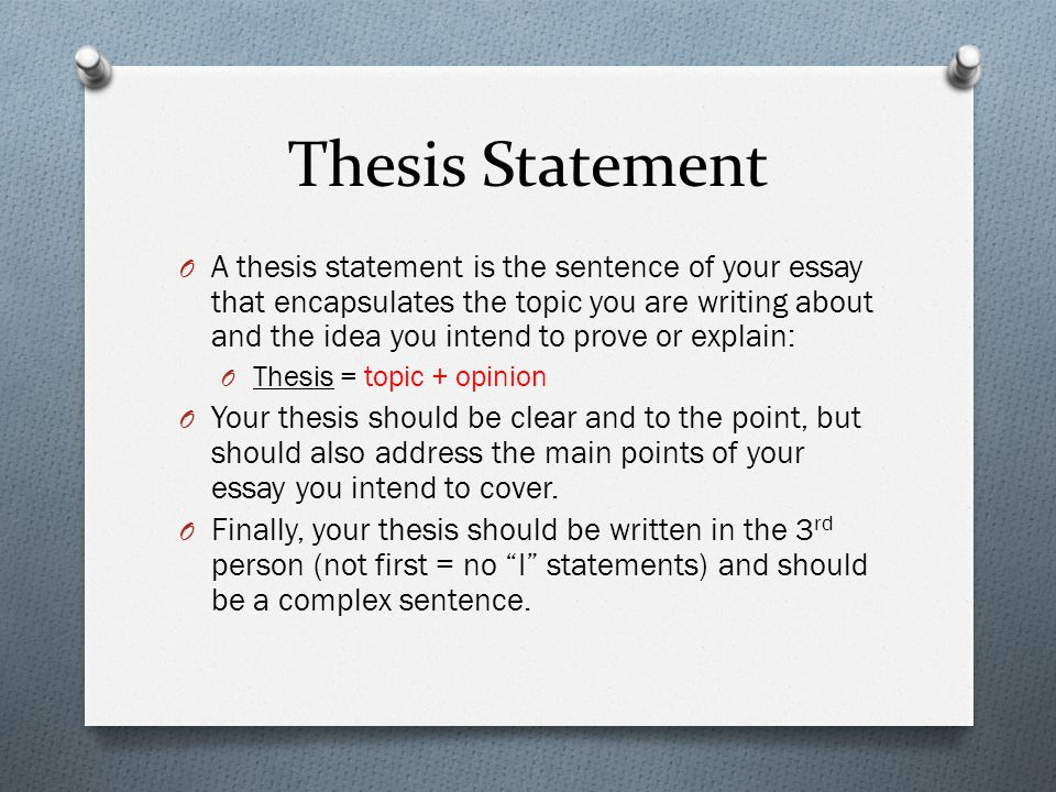 Theme Unit  Short Story Essay Thesis Statement O A Thesis   Thesis Statement