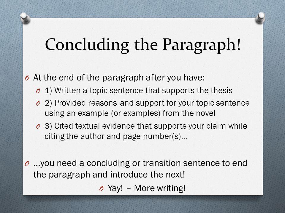 how do you end a conclusion paragraph