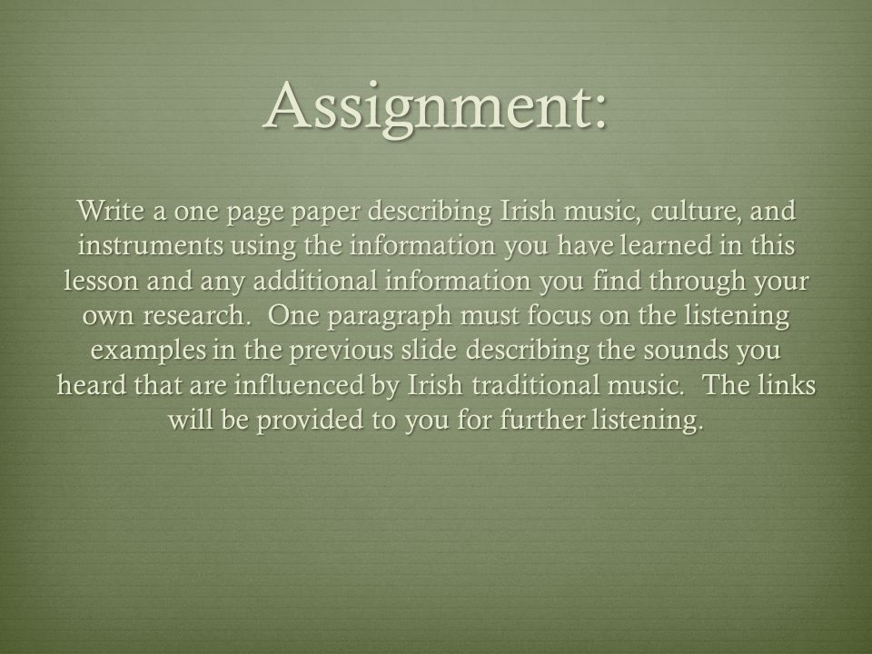 paragraph on culture and music