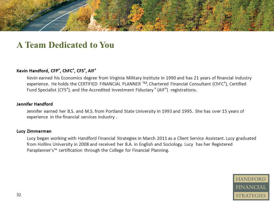 Managing Your Fiduciary Responsibilities Kevin Handford Cfp Chfc