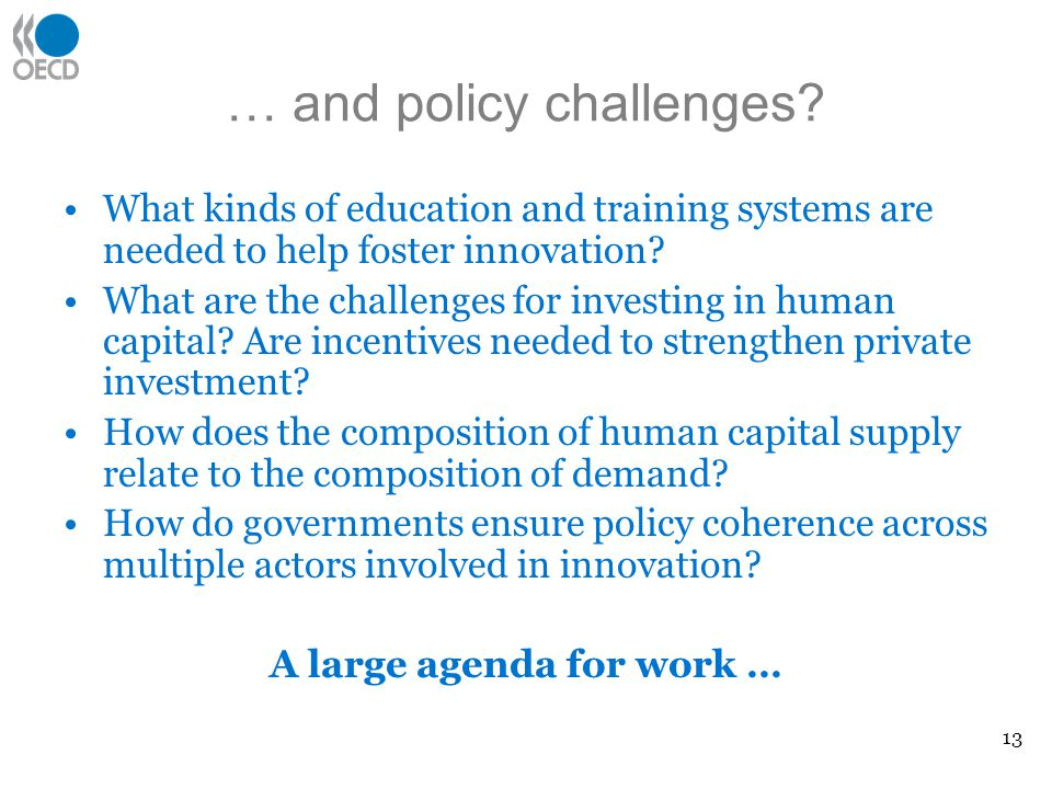 … and policy challenges.