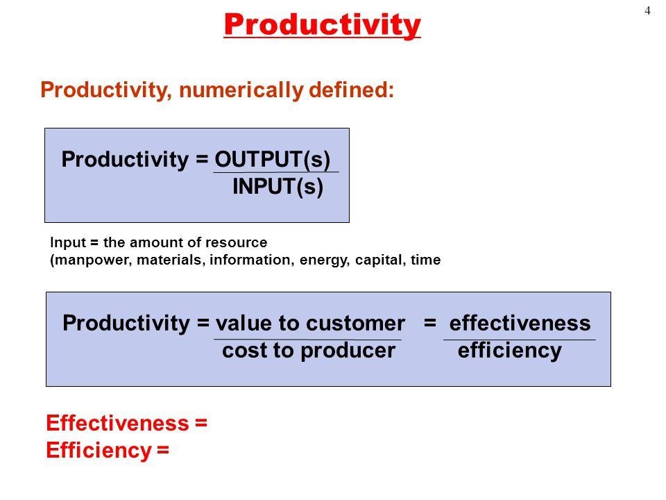 1 Productivity Measurement Operations Management Ppt Download