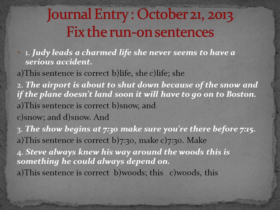 lead sentence in english