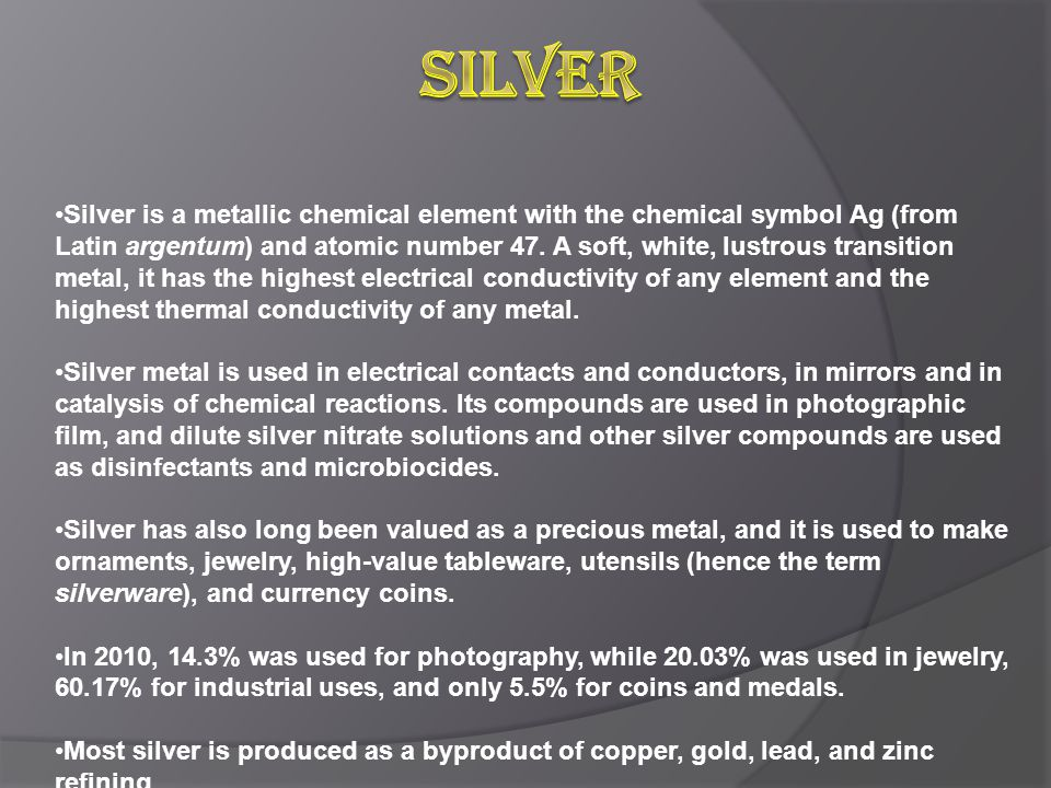 Talking Points Precious Metals And Their Uses Types Of Precious