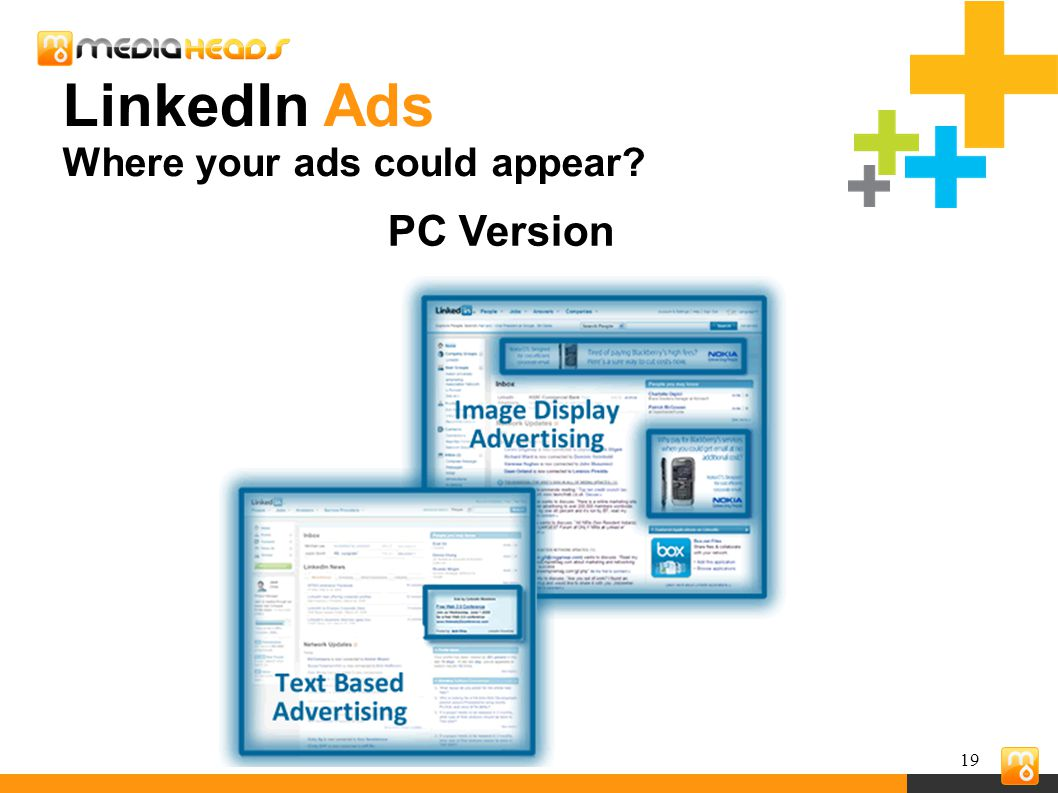 19 PC Version LinkedIn Ads Where your ads could appear