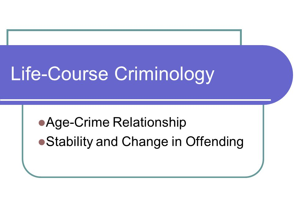 the age and crime relationship
