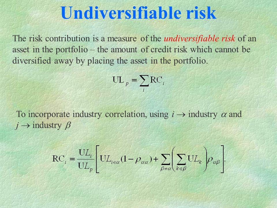 undiversifiable