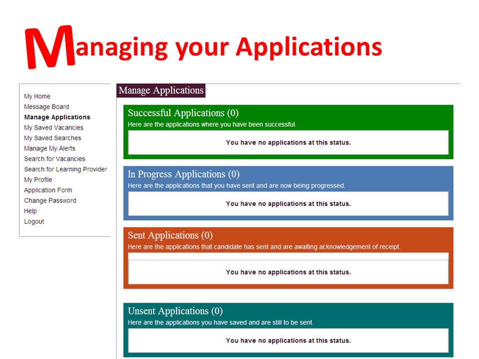 anaging your Applications M