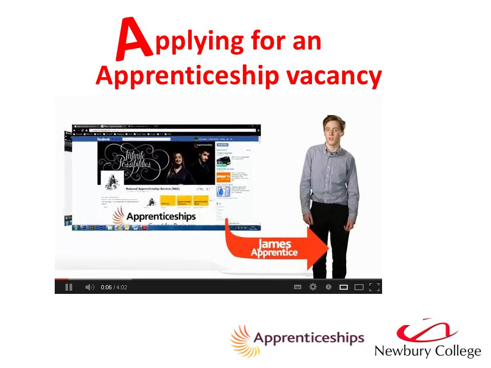 pplying for an Apprenticeship vacancy A