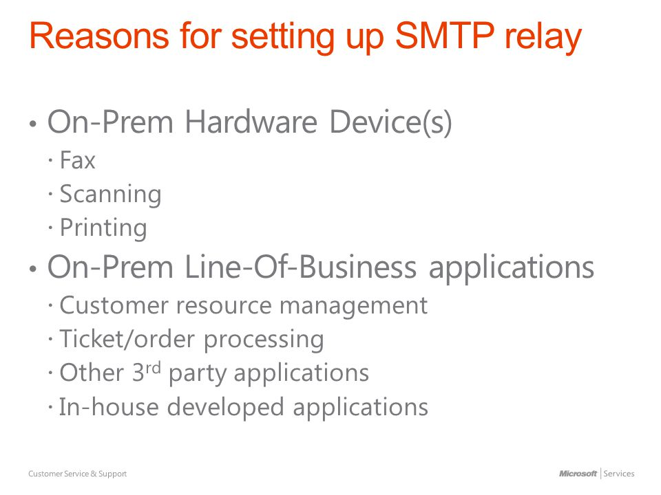 Office 365 SMTP Relay June Relay Method Send to rcpts in