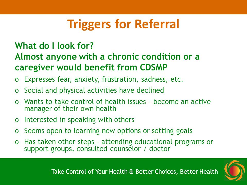 Triggers for Referral What do I look for.