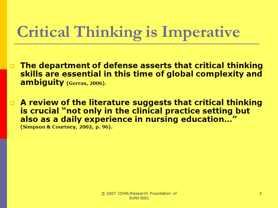 ch 10 critical thinking p 387 Bittner and tobin defined critical thinking as being influenced by knowledge and experience, using strategies such as reflective thinking as a part of learning to identify the issues and opportunities, and holistically synthesize the information in nursing practice 4 (p 268.